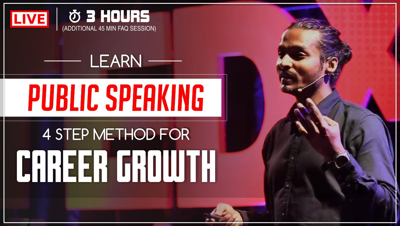 Learn public speaking 4 step method for career growth